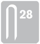 Elektrikářské sponky RAPID 28