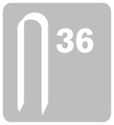 Sponky na kabely RAPID 36